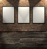 Three Empty Frames Stock Photo