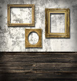Three empty frames Royalty Free Stock Images