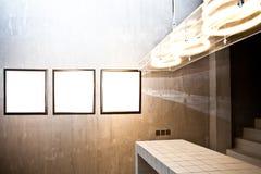 Three empty frames Stock Image