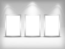Three empty frames. Royalty Free Stock Photography