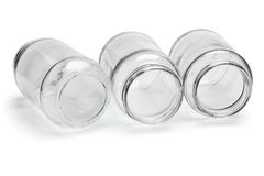 Three Glass Containers Royalty Free Stock Photo