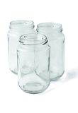 Three empty glass jars Stock Images
