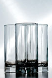 Three empty glasses Stock Photos
