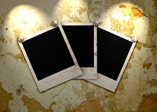 Three empty grunge frame Stock Images