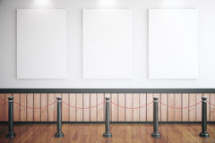 Three empty posters in museum Stock Images