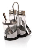 Three empty shakers containing Royalty Free Stock Images