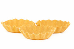 Three empty tartlet Royalty Free Stock Photos