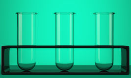 Three empty test tubes Stock Images