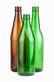 Three empty unlabeled bottles Royalty Free Stock Photography