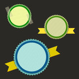 Empty vector rounded labels, easily editable Royalty Free Stock Image