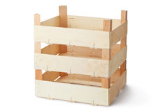 Three empty wooden crates Royalty Free Stock Photos