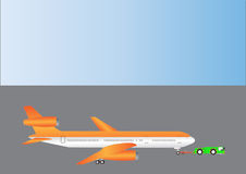 Three Engined Airliner vector illustration