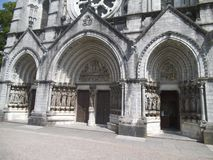 Three entrance gates to a church in Cork. royalty free stock image