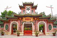 Phuoc Kien Assembly Hall. The three entry gate at the entrance to the Phuoc Kien or Fukian, Fujian or Phuc Kien Assembly Hall built in 1697 by Chinese merchants stock photo