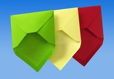 Three envelope. Royalty Free Stock Photos