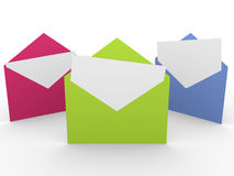Three envelopes Royalty Free Stock Image