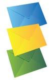 Three envelopes Stock Photos