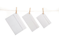 Three envelopes Stock Photos