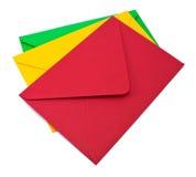 Three envelopes on white Stock Image