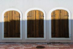 Free Three Equal Antique Windows-doors, Concept - Make Your Choice With Different Outputs Royalty Free Stock Images - 110607369