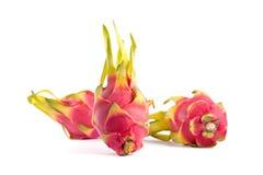 Three Exotic Dragon Fruits Stock Photography