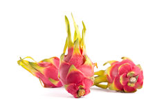 Three exotic dragon fruits Stock Photography