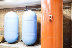 Three expansion boilers Stock Photography