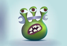 Three eyes alien monster Royalty Free Stock Photography