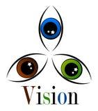 Three eyes emblem Stock Image