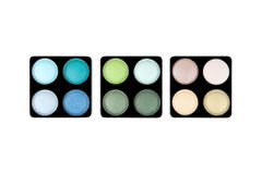Three eyeshadow palettes Royalty Free Stock Image