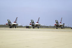 Three F-16C Fighting Falcons Stock Image