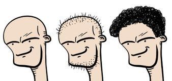 Three faces Royalty Free Stock Photos