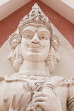 Three faces of statues Stock Photography