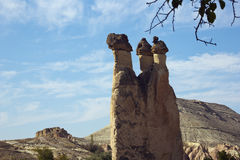 Three fairy chimneys in a row Royalty Free Stock Photos