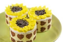 three fancy cakes Stock Image