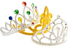 Three fancy crowns Royalty Free Stock Photos