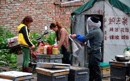 Pengzhou, China: Beekeepers Making Honey Stock Photos