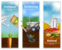 Three Farming Vertical Banners Royalty Free Stock Image