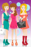 Three fashion girls Stock Photography
