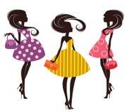 Three fashion girls Stock Image