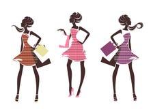 Three fashion girls Royalty Free Stock Photos