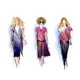 Three Fashion Models Stock Image