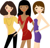 Three fashion women Stock Photography