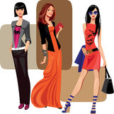 Three fashion women Royalty Free Stock Photo