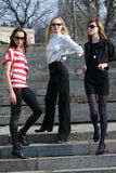 Three fashion women Royalty Free Stock Photos