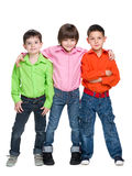 Three fashion young boys Royalty Free Stock Image