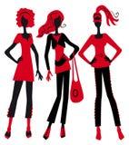 Three fashionable girls Royalty Free Stock Photo
