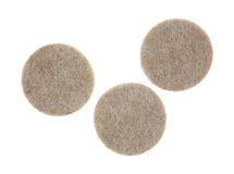 Three felt surface protectors Royalty Free Stock Photo