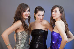 Three female friends Stock Images