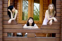 Three female friends Stock Photo